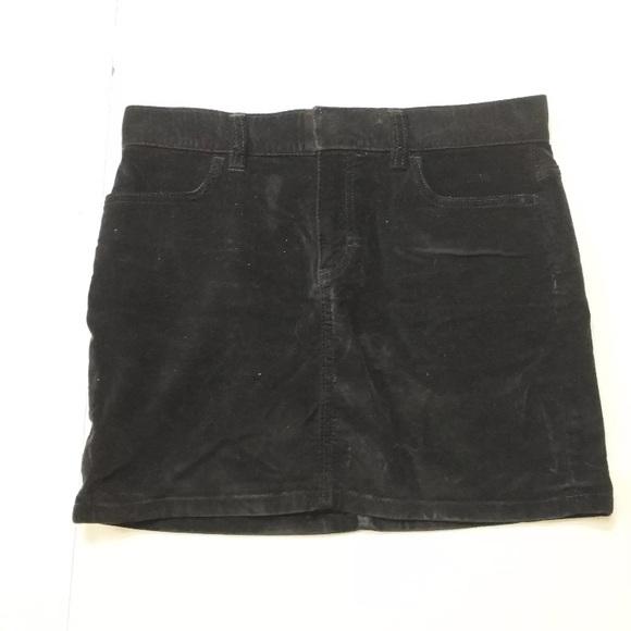 7389f9a5c0 GAP Skirts | Vintage Mini Skirt Black Velvet Cotton Grunge | Poshmark